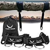 PURE HANG XXL Tree Swing Hanging Strap Kit - Heavy Duty 2000 LBS 320*5cm - Fits all Hammocks & Swings - Includes Premium Safety Lock Carabiners & Carry Bag - TÜV Süd checked