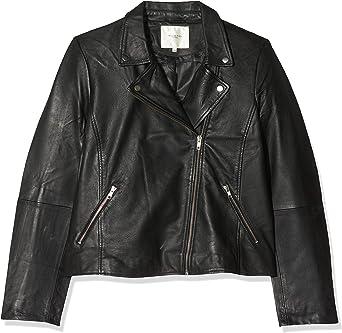 Selected Femme NOS damska kurtka skÓrzana Slfmarlen Noos B kurtka czarna, (rozmiar producenta: 44): Odzież