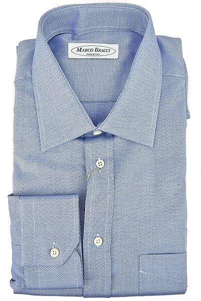 selezione premium 0ac70 43a9b Marco Bracci Camicia Sartoriale Uomo Armaturato Azzurro ...