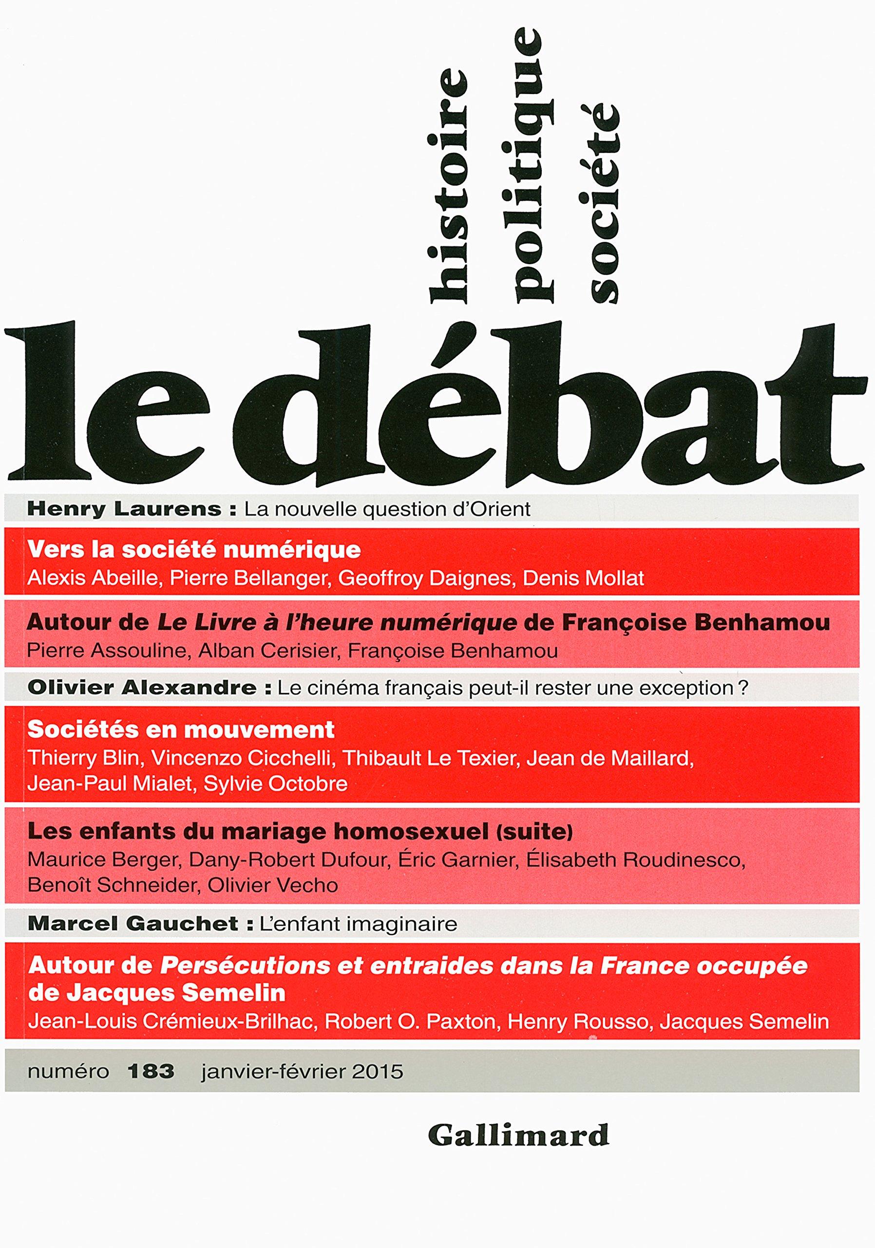 Le Débat, N° 183 janv-fév 2015 : Pierre Nora: 9782070148219