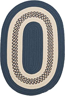 product image for Colonial Mills Hampton Fade-resistant Indoor/Outdoor Braided Rug (2' x 3') Lake Blue Blue, Natural, Off-White