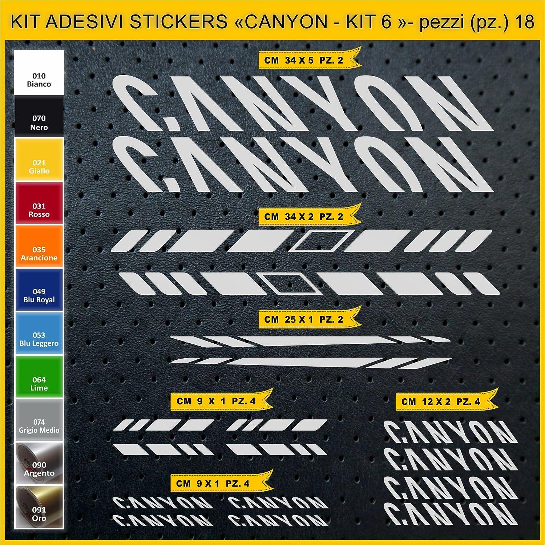 Kit Pegatinas Stickers Bicicleta Canyon - Kit 6-18 Piezas- Bike ...