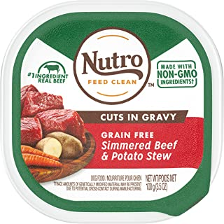 product image for Nutro Cuts in Gravy Grain Free Wet Dog Food Adult & Puppy, 3.5 Oz Trays