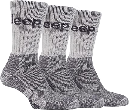3 Pairs Mens Luxury Jeep Terrain Walking Hiking Work Boot Sport Running Socks