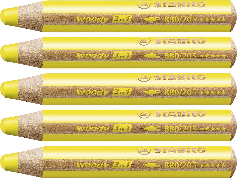 STABILO WOODY AQUARELL-FARBSTIFT 10 STÜCK PACKUNG MULTITALENT-STIFT 3 IN1 NEU