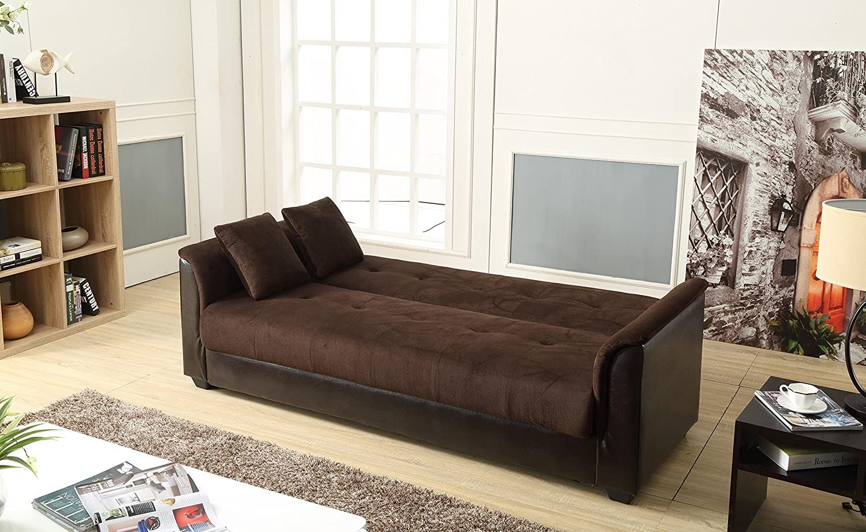 Chocolate, NHI Express 72016-06CH Melanie Champion Sofa Futon Bed