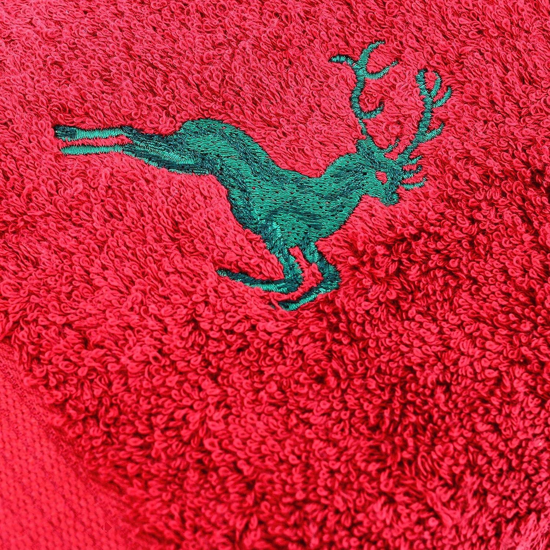 color burdeos//HIRSH 600 g//m2 Aquanatura-Toalla de lavabo 50 x 100 cm color verde