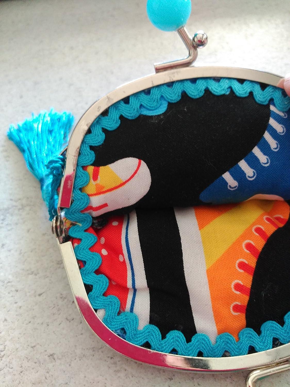 Monedero hecho a mano tela tenis.: Amazon.es: Handmade