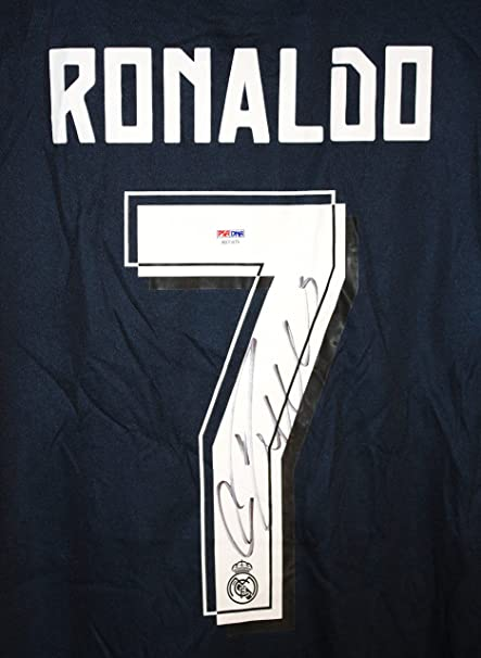 best loved 15f8c 8ffbb Cristiano Ronaldo Autographed Signed Real Madrid Fly ...