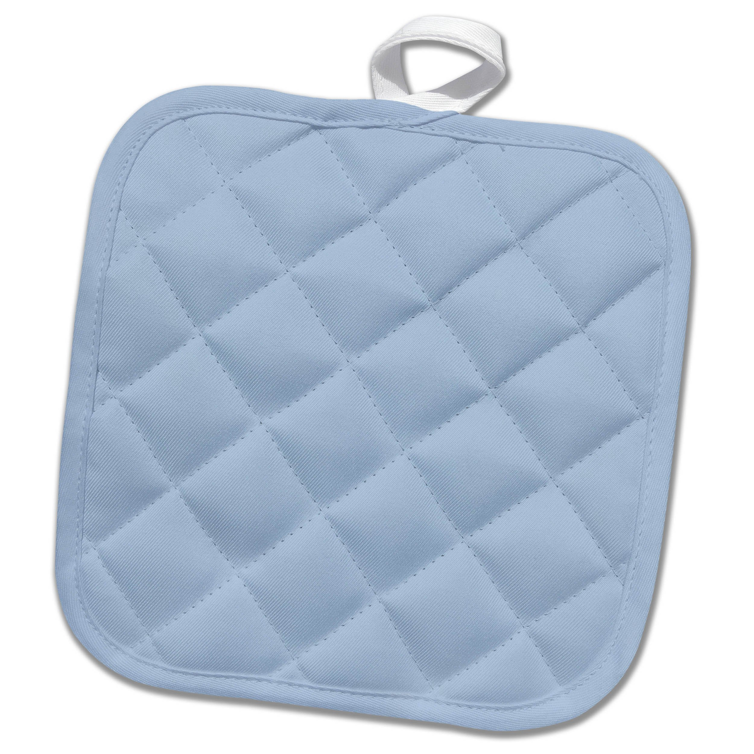 3dRose Kultjers Colors - Color light steel blue - 8x8 Potholder (phl_284796_1)
