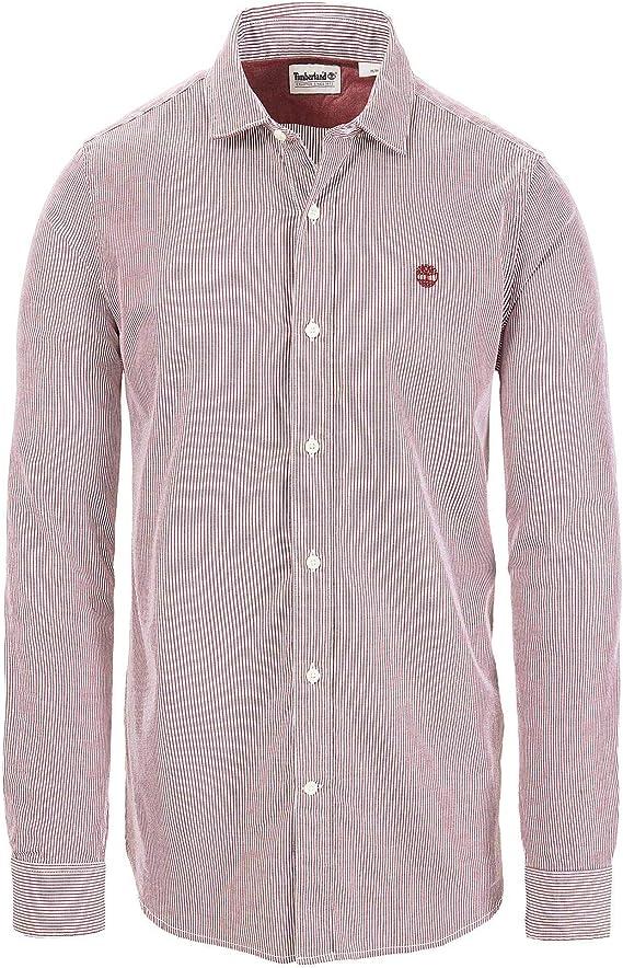 Timberland Wellfleet Regular Fit Camisa de Hombre a Rayas roja A1NBHM52: Amazon.es: Ropa y accesorios