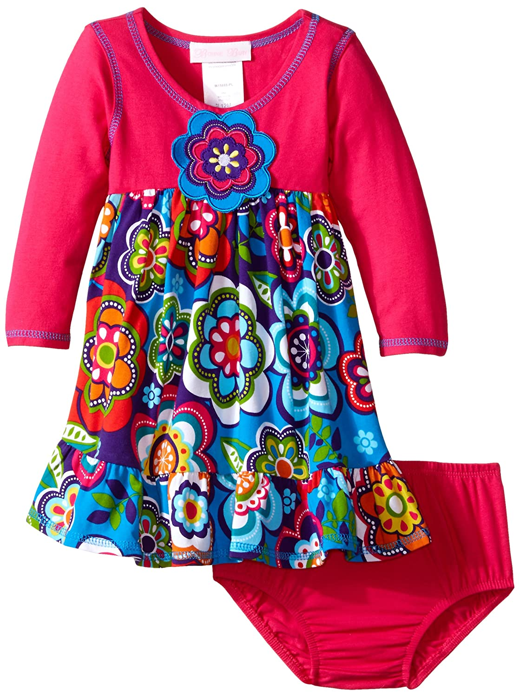 Bonnie Baby DRESS ベビーガールズ L ホットピンク B010UMUVCO