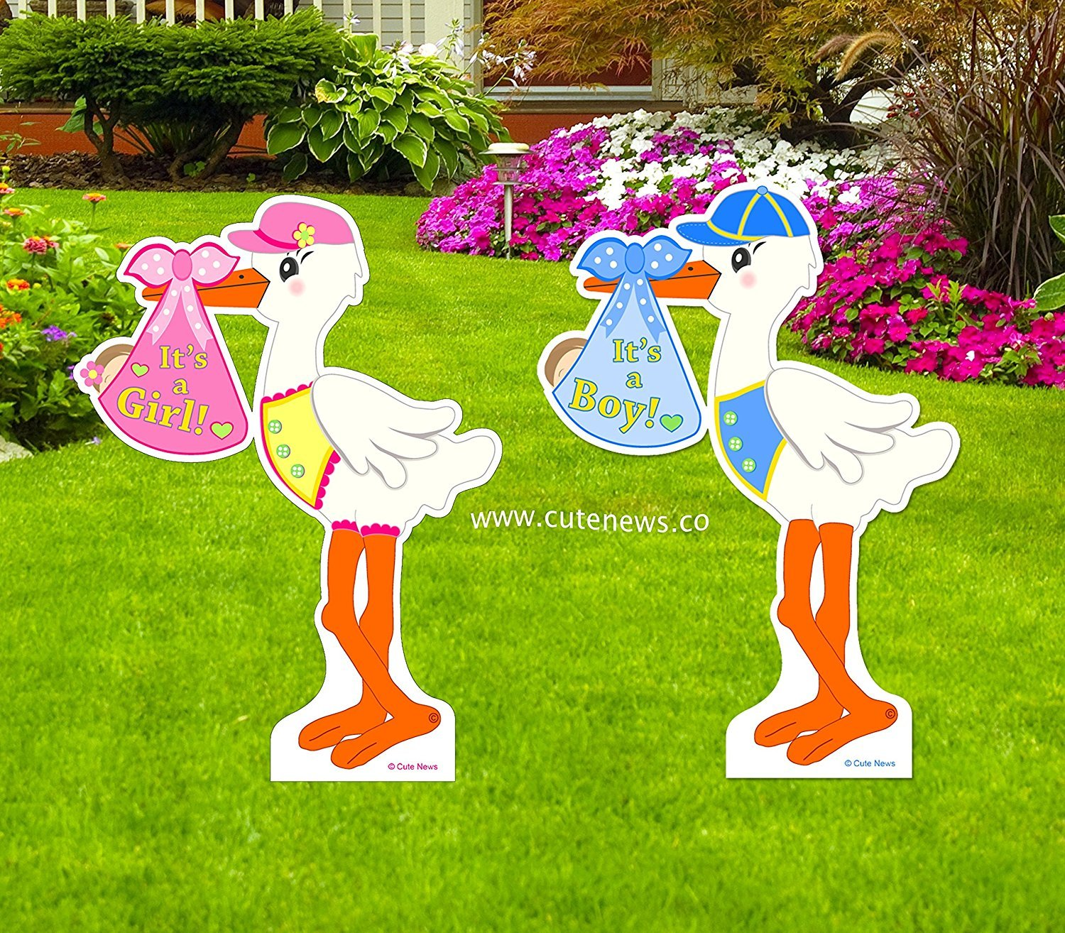 Amazoncom Its a Girl Yard Stork Announcement Sign Welcome