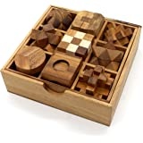 BSIRI 9 Unique Puzzles a Perfect Gift Set Handcrafted Mini Brain Teasers Interlocking Wooden Puzzle Sets