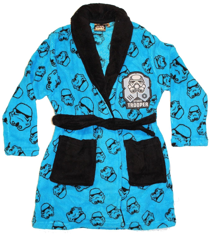 Disney Official Licensed Kids Star Wars Stormtrooper Fleece Gown/Robe Blue) PH2083