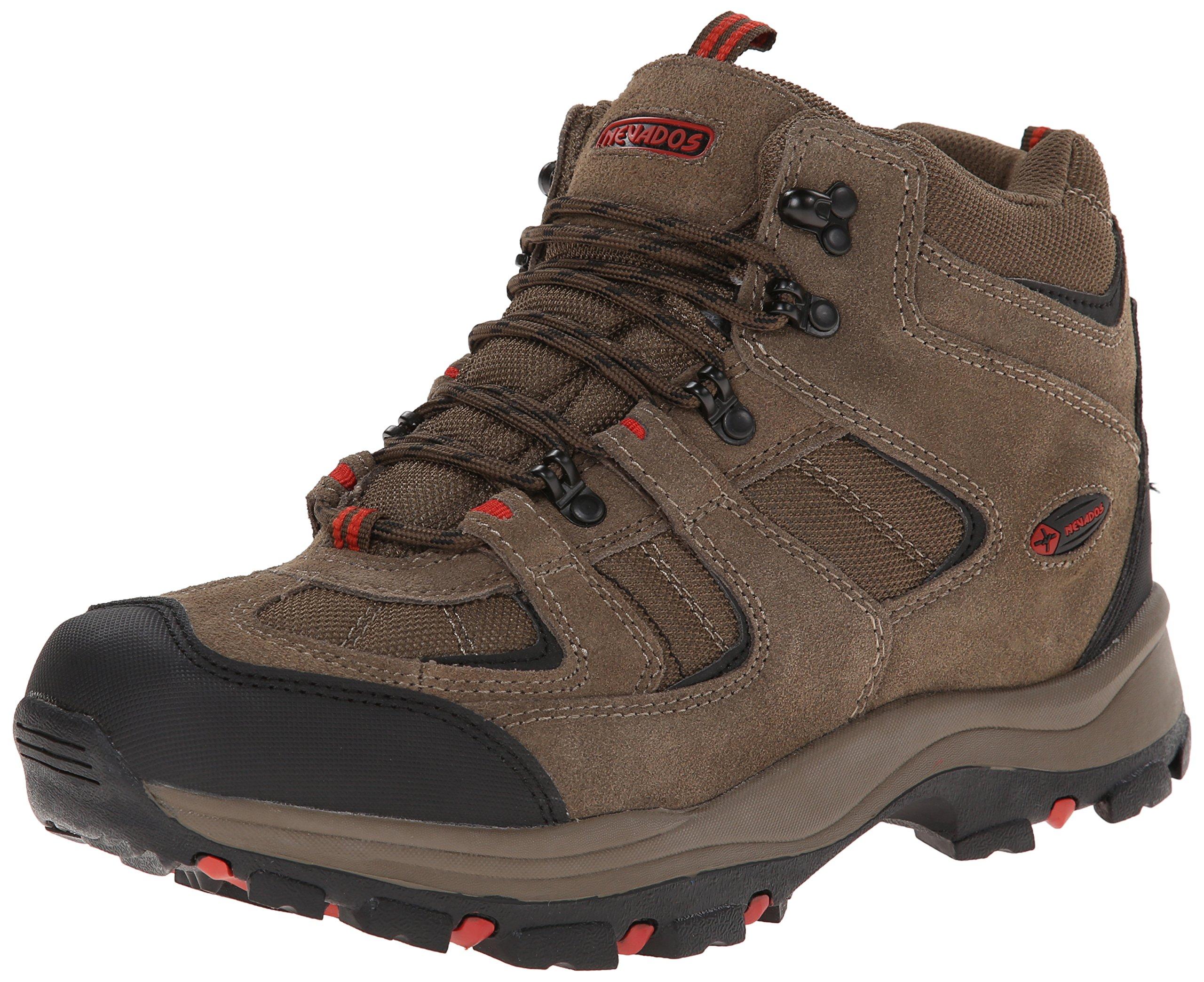 Nevados Men's Boomerang II Mid Hiking Boot, Dark Brown/Red, 8.5 2E US