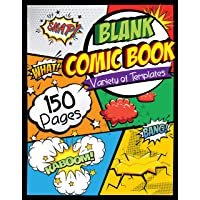 """Blank Comic Book: Draw Your Own Comics - 150 Pages of Fun and Unique Templates - A Large 8.5"""" x 11"""" Notebook and…"""