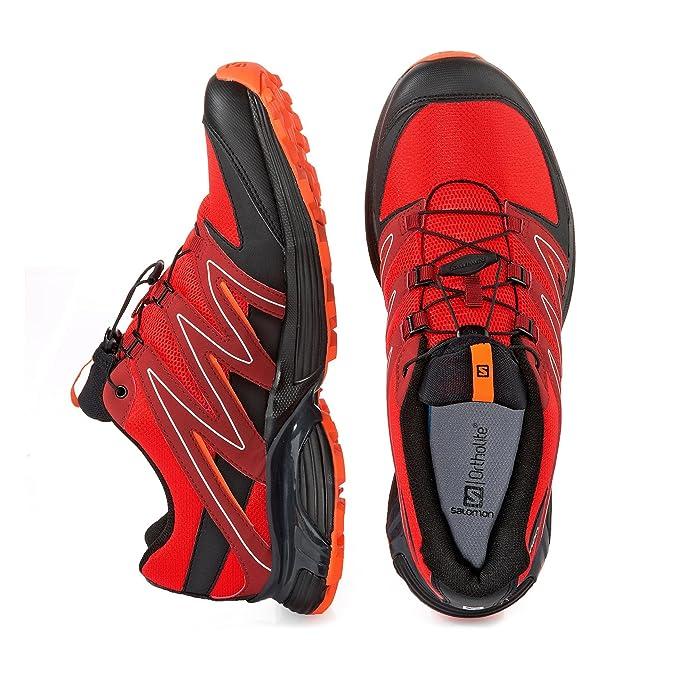 Salomon XT–Zapatos de caza calcita, color rojo, talla 10