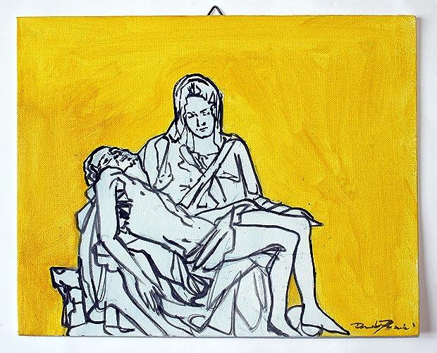 Gemälde von Michelangelo Barmherzigkeit-Studie auf Leinwand Papier ...