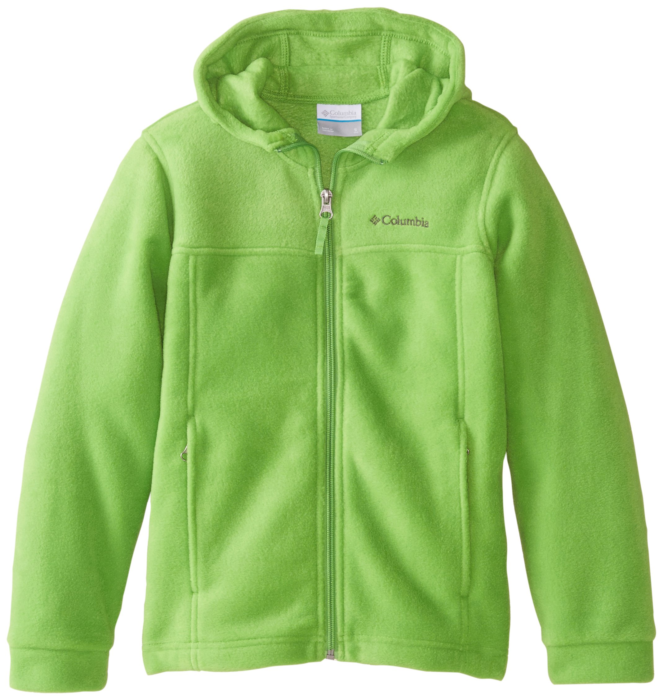 87b5ec846 Galleon - Columbia Big Boys' Steens II Fleece Hoodie, Cyber Green, X-Large
