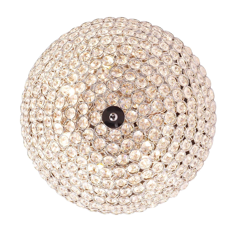 Innenbereich 7 * G9-Lampen SPARKSOR Moderne Kristall Deckenleuchte Kronleuchter Deckenleuchte f/ür Schlafzimmer Wohnzimmer Unterputz Verchromung Prozess Runde Lampenschirme