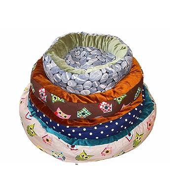 YOMMY® Cama para Perros Gatos Cuna Terciopelo Mascotas Cama Donut Colores se envían al azar Tamaño S/M/L/XL YM-1247 (XL): Amazon.es: Deportes y aire libre