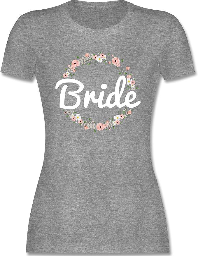 Tailliertes Tshirt f/ür Damen und Frauen T-Shirt Shirtracer JGA Junggesellinnenabschied Bride to Be