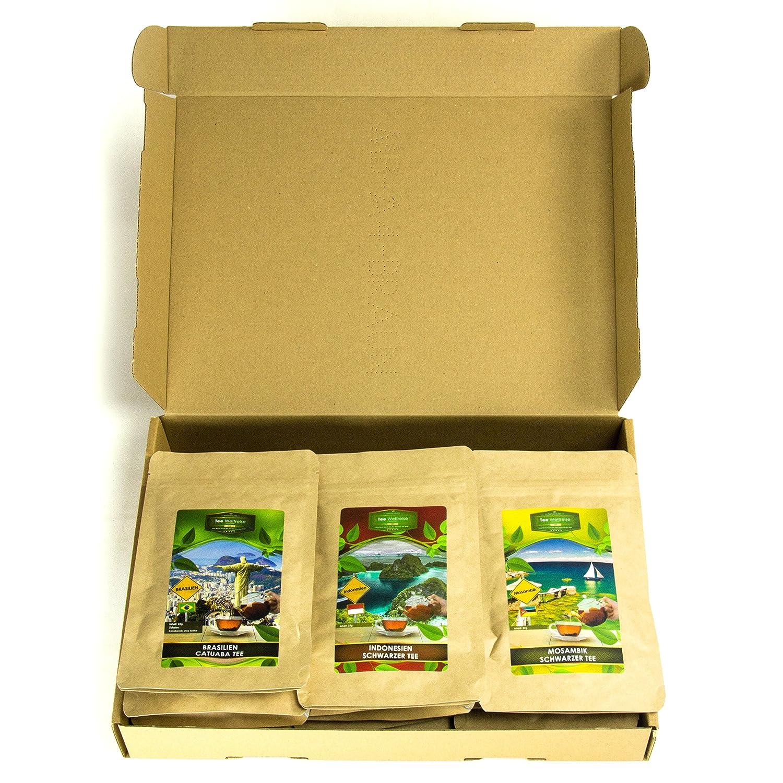 Tee Geschenk Set für Tee Trinker (10x7 Tassen)   Tee Präsentkorb ...