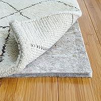 RUGPADUSA - Basics - 4'x6' - 1/2″ Thick - 100% Felt - Protective Cushioning Rug Pad - Safe for All Floors and Finishes including Hardwoods