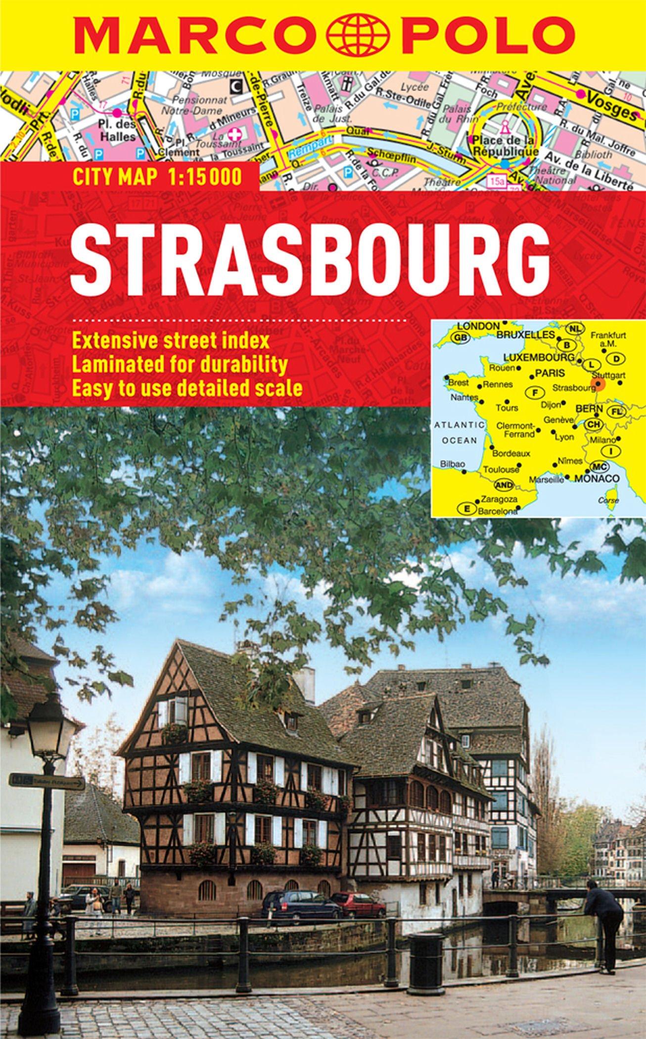 Strasbourg Marco Polo Laminated City Map (Marco Polo City Map) PDF