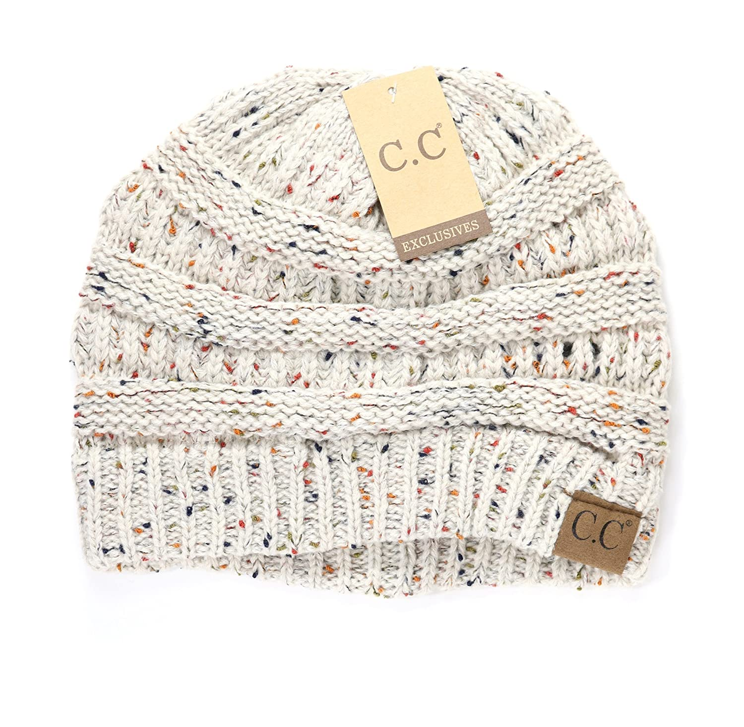 e18e275a31a Women s Flecked CC Beanies One Size Oatmeal at Amazon Women s Clothing  store