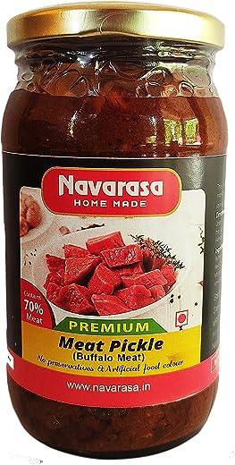 Homemade Buffalo Meat Premium Pickle 400g – Navarasa