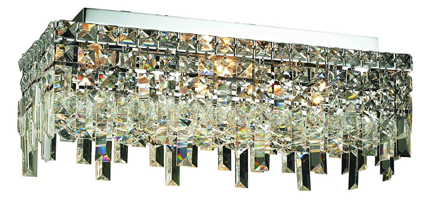 Elegant Lighting 2035F20C/RC Maxim 7-Inch High 4-Light Flush Mount ...