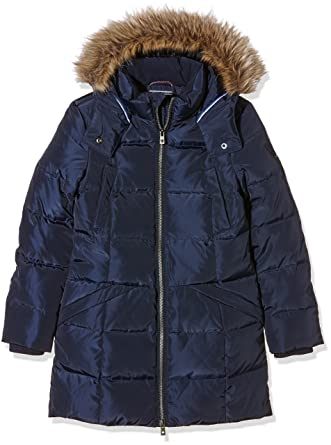 Tommy Hilfiger Girls Rich Down Coat, Abrigo para Mujer, Navy Blazer, 14