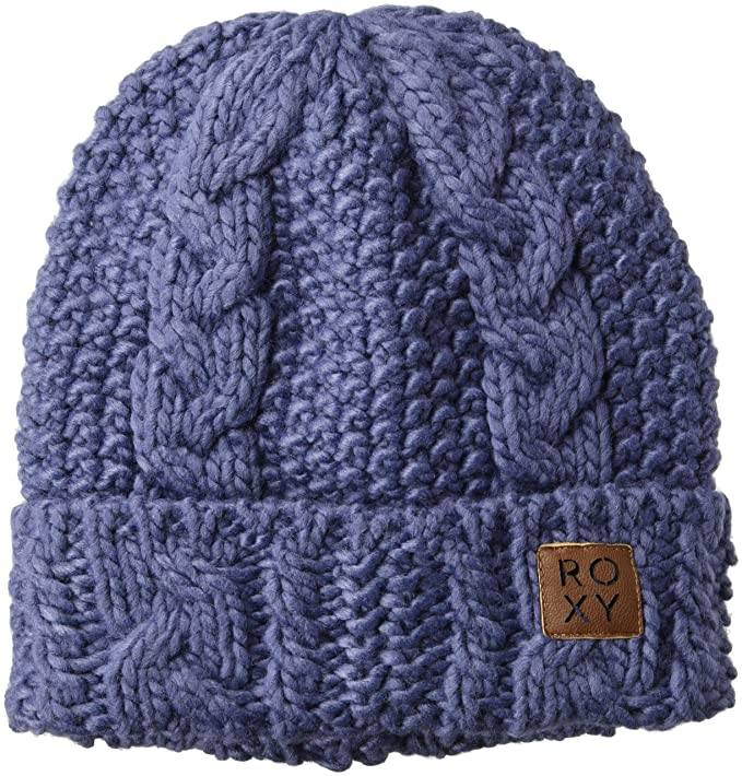 5af8a1238 Roxy Women's Tram Snow Beanie Hat, Crown Blue One Size: Amazon.co.uk ...