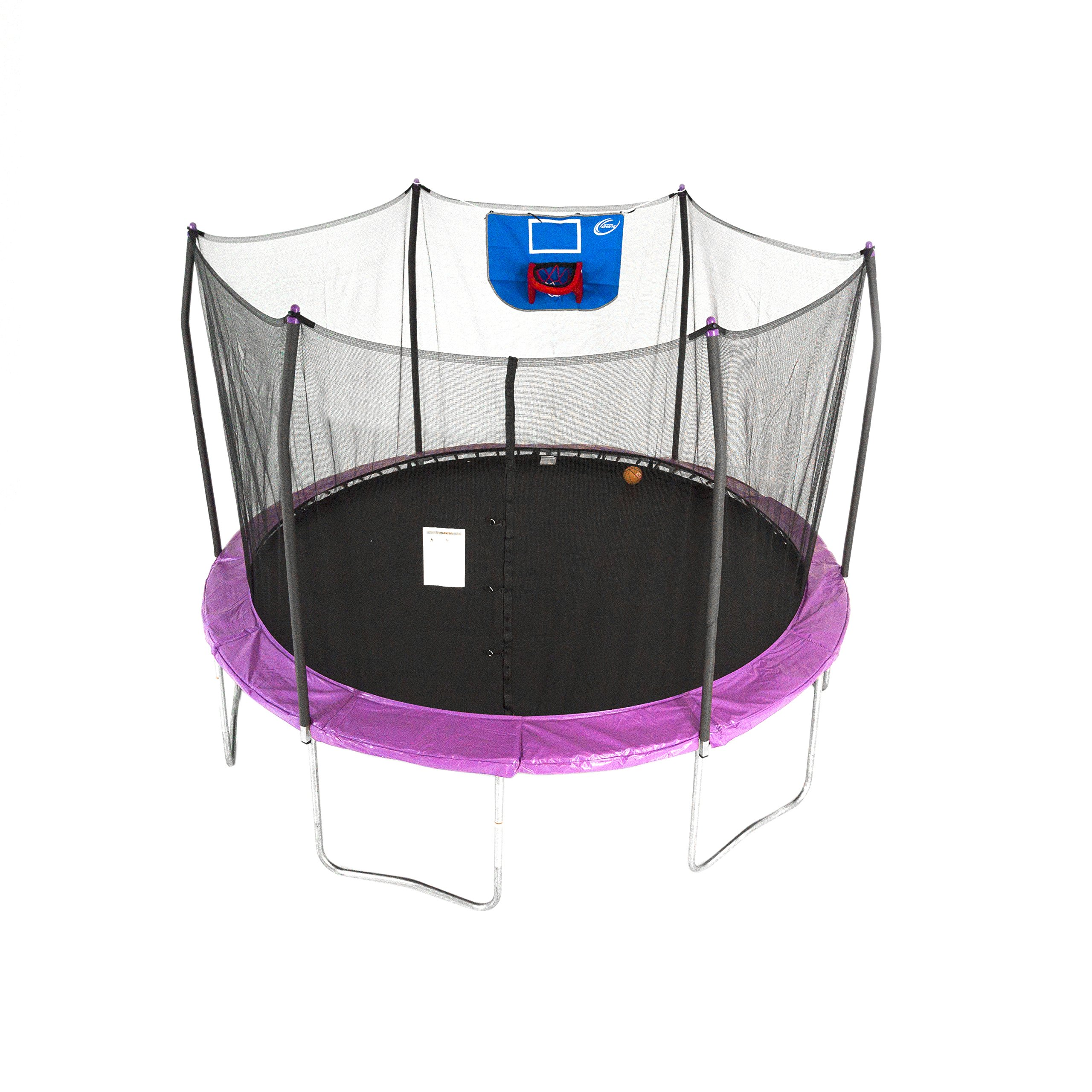 Skywalker Trampolines 12-Foot Jump N' Dunk Trampoline with Enclosure Net - Basketball Trampoline by Skywalker Trampolines