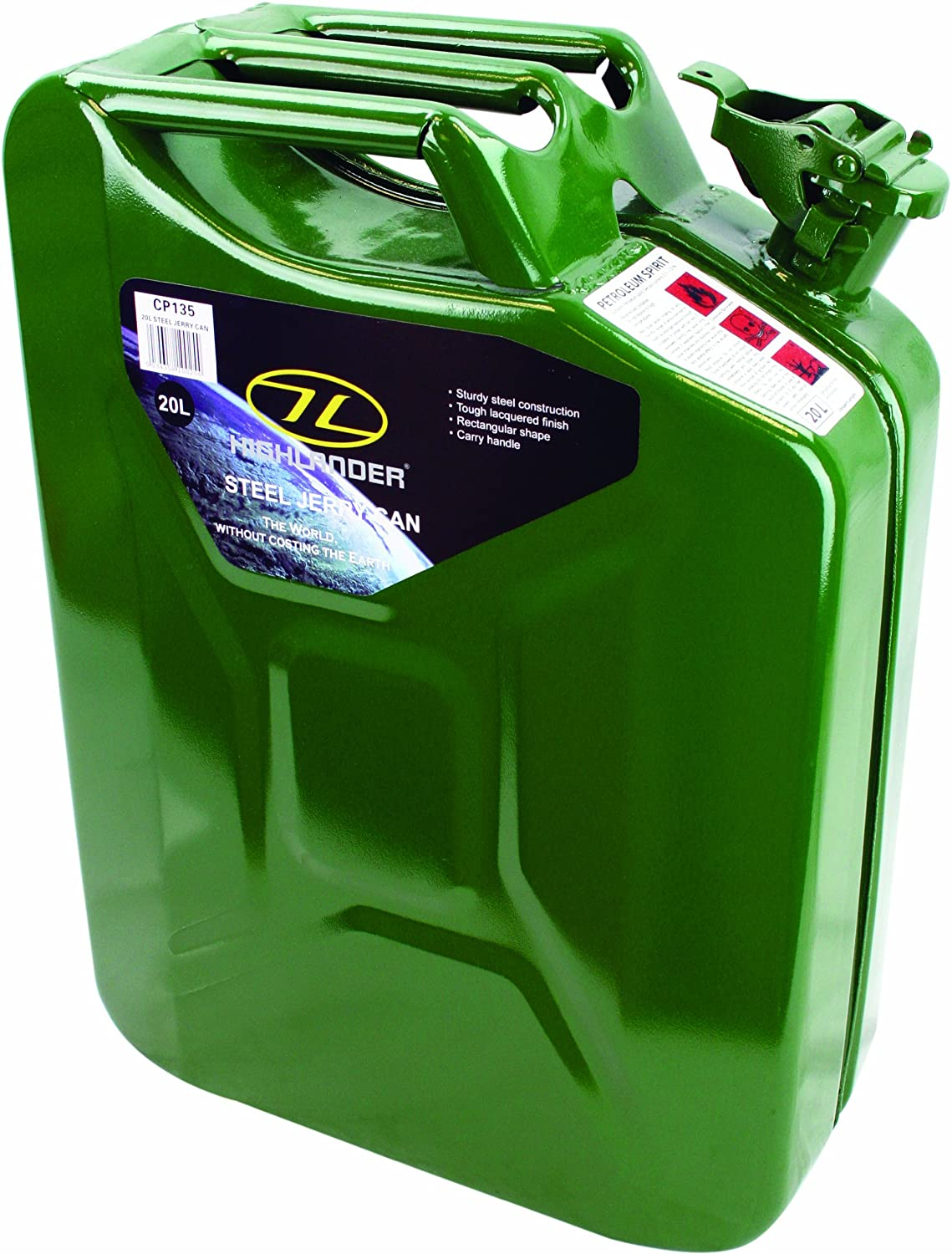 Highlander 20L LaqueROT Steel Jerry Can Carrier Water Carrier Can ee6e62