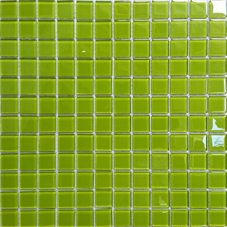 30x30cm Plain Green Glass Mosiac Mosaic Tiles Sheet (MT0023) Grand Taps