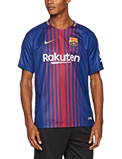 edc875daa8b Nike 2017/18 FC Barcelona Stadium Jersey with Sponsor [DEEP Royal Blue]