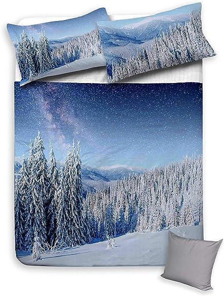 Copripiumino Paesaggio Invernale.Tex Family Copripiumino Serie Digity In Cotone Paesaggio Invernale