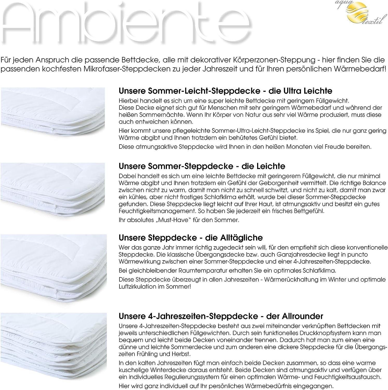 aqua-textil Ambiente Couette d/ét/é l/ég/ère Microfibre 200 x 240 cm