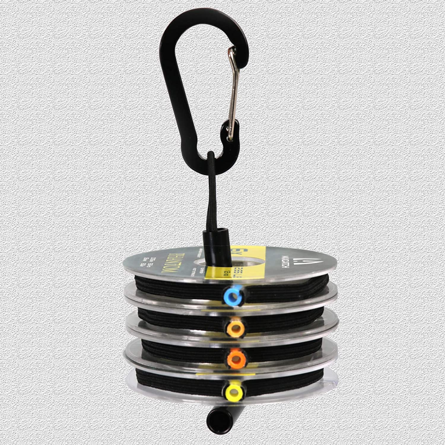 M MAXIMUMCATCH Maxcatch Fly Fishing Tippet Line with Tippet Holder /& Spool Tender 50m//55Yds Clear 4PCS