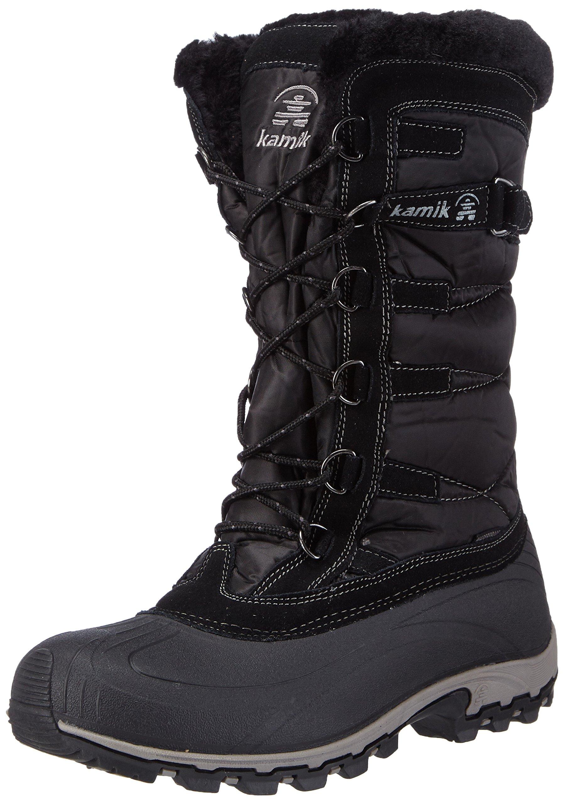 Kamik Women's Snowvalley Winter Snow Boot,Black BK2,8 M US