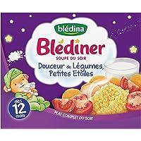 Blédina Blédîner Soupe du Soir Douceur de Légumes Petites Etoiles dès 12 mois 2 x 250 ml - Pack de 9
