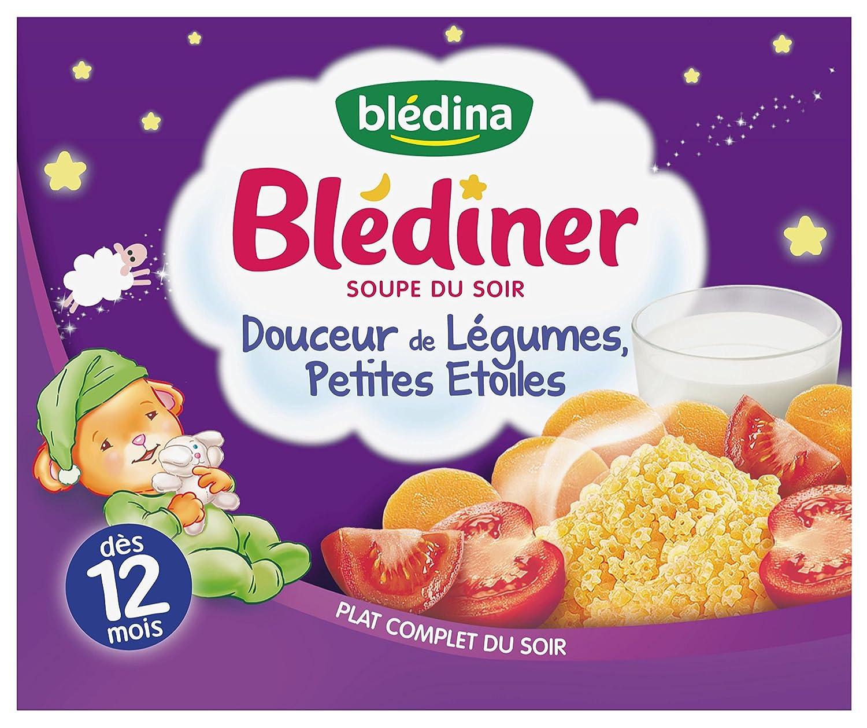 Blédina Blédîner Soupe du Soir Douceur de Légumes Petites Etoiles dès 12 mois 2 x 250 ml - Pack de 9 554683