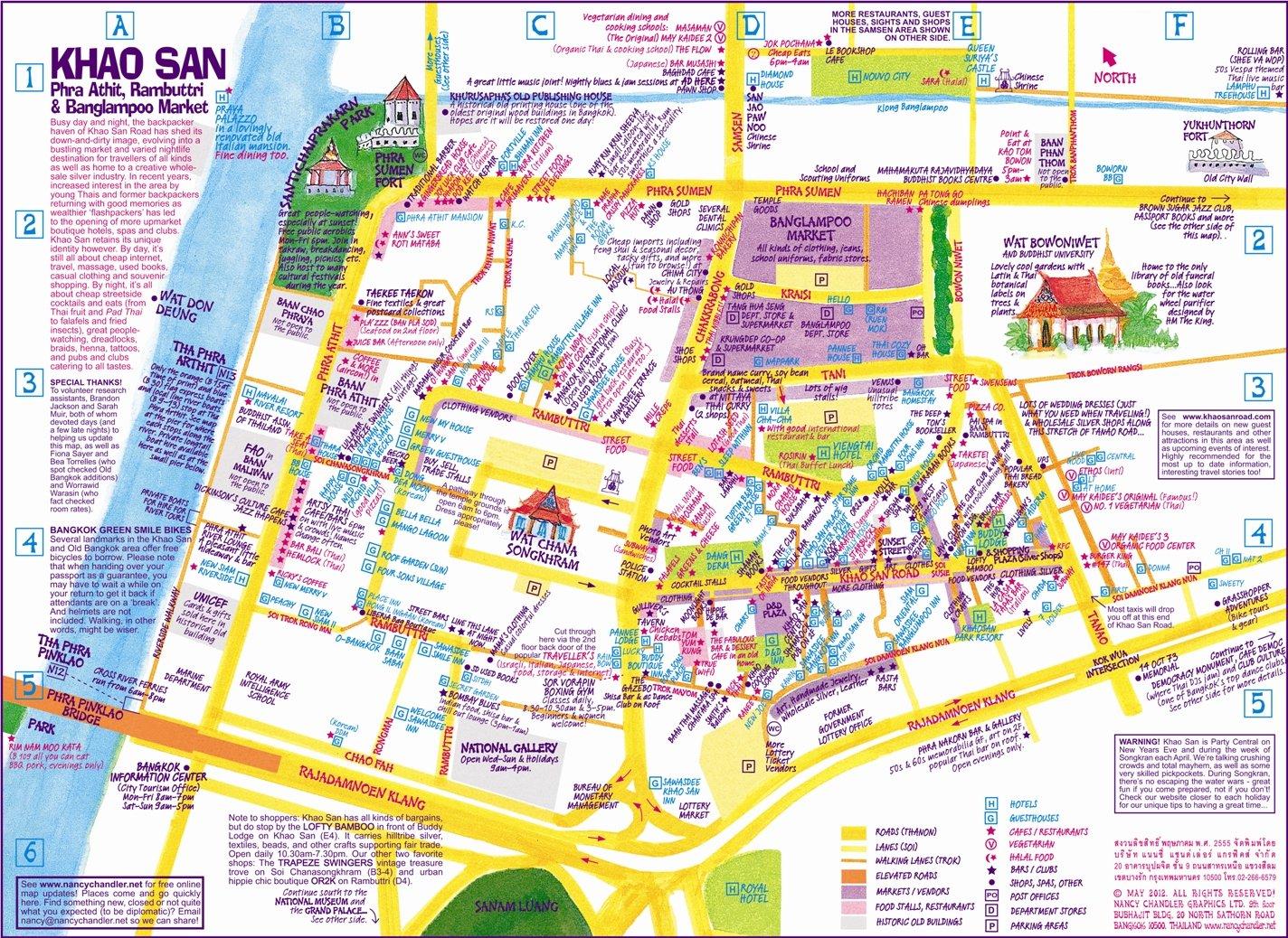 Nancy Chandlers Map of Khao San Old Bangkok 2nd ed Nima