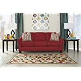 Hannin Contemporary Red Fabric Sofa