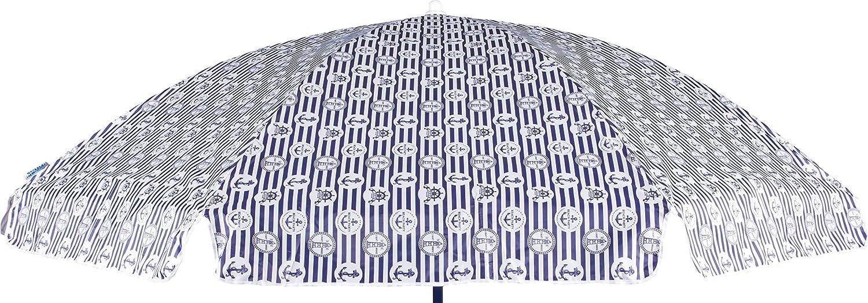 Ombrellone Mare 180cm 8 Stecche Acciaio e Oxford 80gr Vari Colori Enrico Coveri