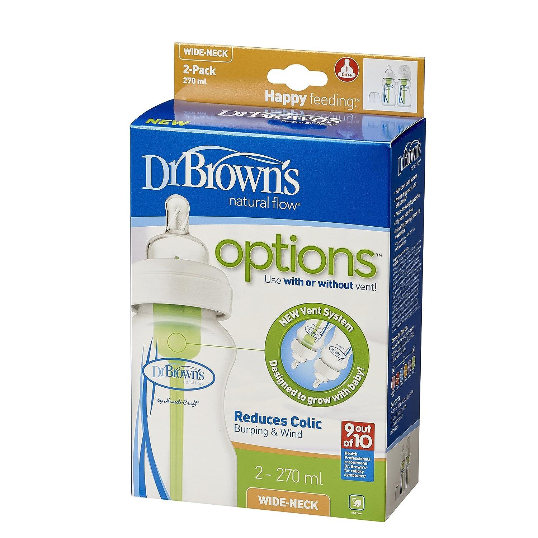 270 ml, Paquete de 2 Dr Brown Option Ancho Cuello