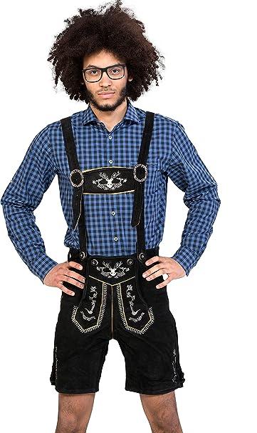 Almwerk - Pantalón corto de cuero para hombre. Modelo ...